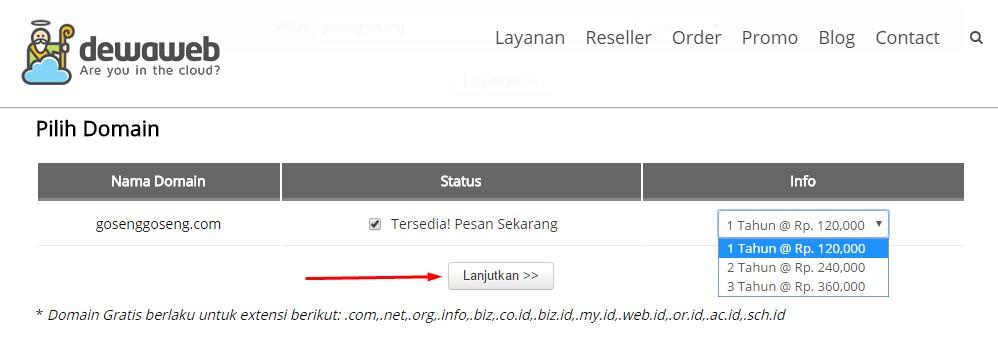 Keterangan domain tersedia