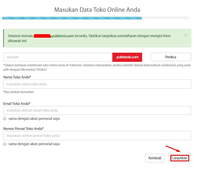 6. Masukkan Data Toko Online Anda