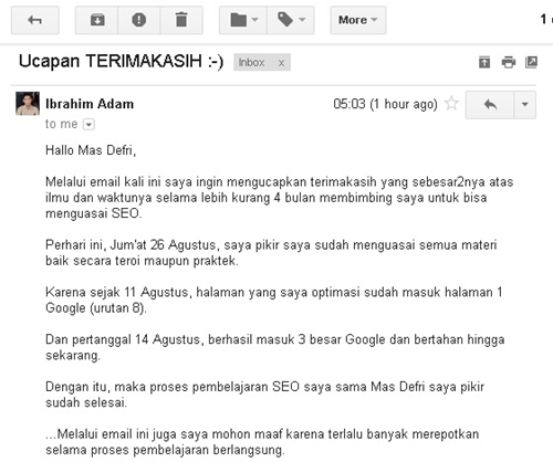 capture email testi private seo