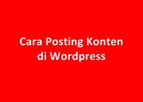 Cara Posting di Blog Wordpress