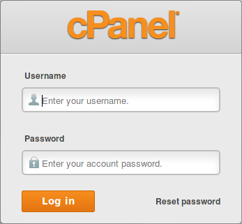 Log in cpanel