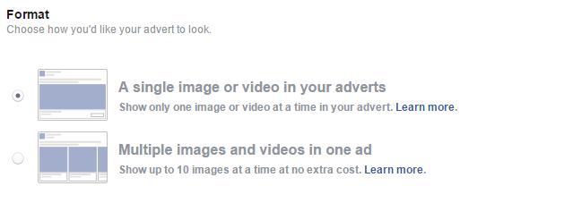Pilih format iklan