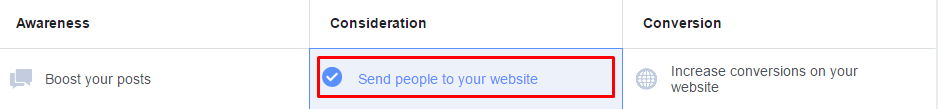Send People to your website