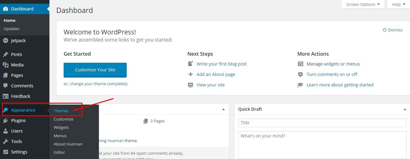 Cara Memilih dan Mengganti Theme WordPress